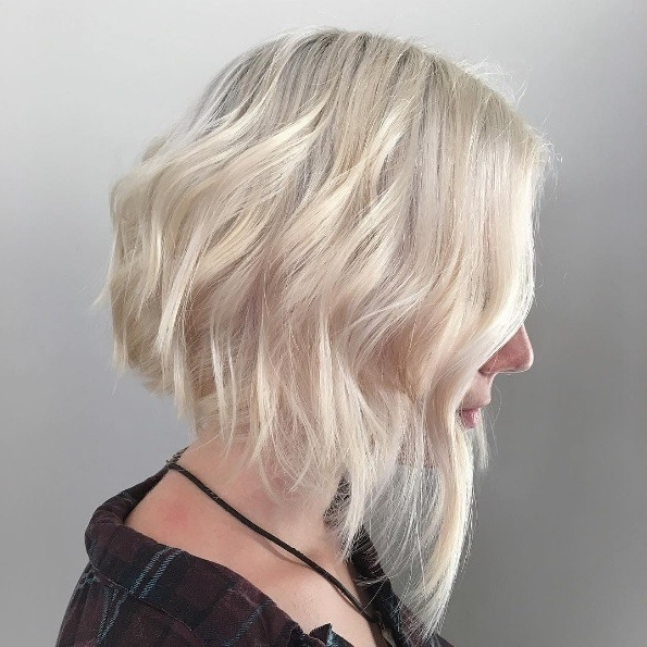 Want To Get An Asymmetrical Haircut? Discover These 5 Great Looks For Platinum Asymmetrical Blonde Hairstyles (View 11 of 25)