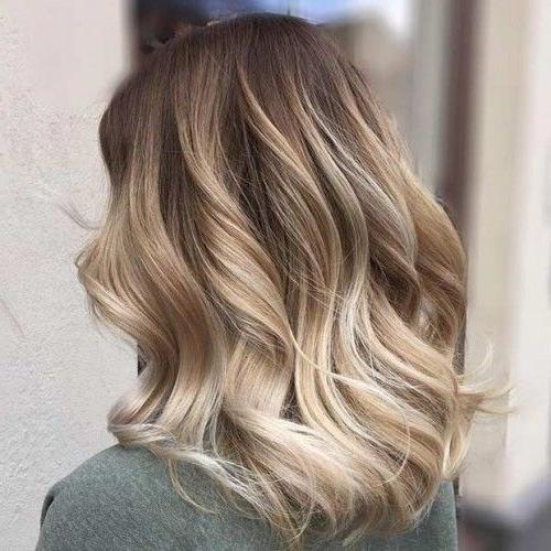 Warm Blonde Bayalage Curls | Own That Ponytail, Work That Updo Pertaining To Warm Blonde Curls Blonde Hairstyles (View 3 of 25)