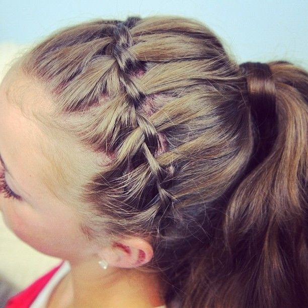 Waterfall Braid Pulled Into Ponytail | Hair | Pinterest | Ponytail Regarding Cascading Ponytail Hairstyles (View 25 of 25)