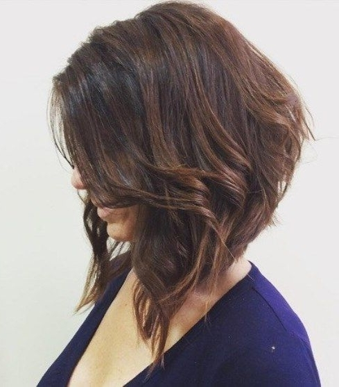 Wavy Angled Bob A Line Bob Hairstyles | Hair | Pinterest | Wavy In Steeply Angled A Line Lob Blonde Hairstyles (View 10 of 25)