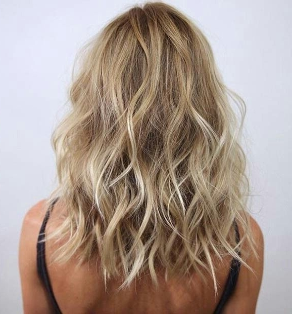 Wavy Long Bob | Hair Styles | Pinterest | Long Bob, Bobs And Hair Pertaining To Chamomile Blonde Lob Hairstyles (View 23 of 25)