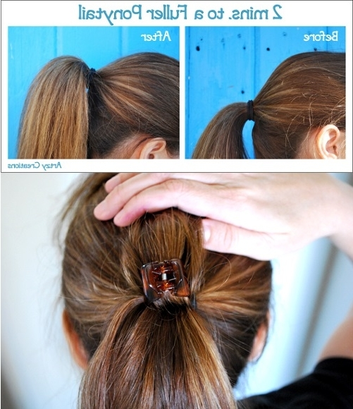 Ways To Create Volume To Your Ponytail – Alldaychic Regarding High Voluminous Ponytail Hairstyles (View 25 of 25)
