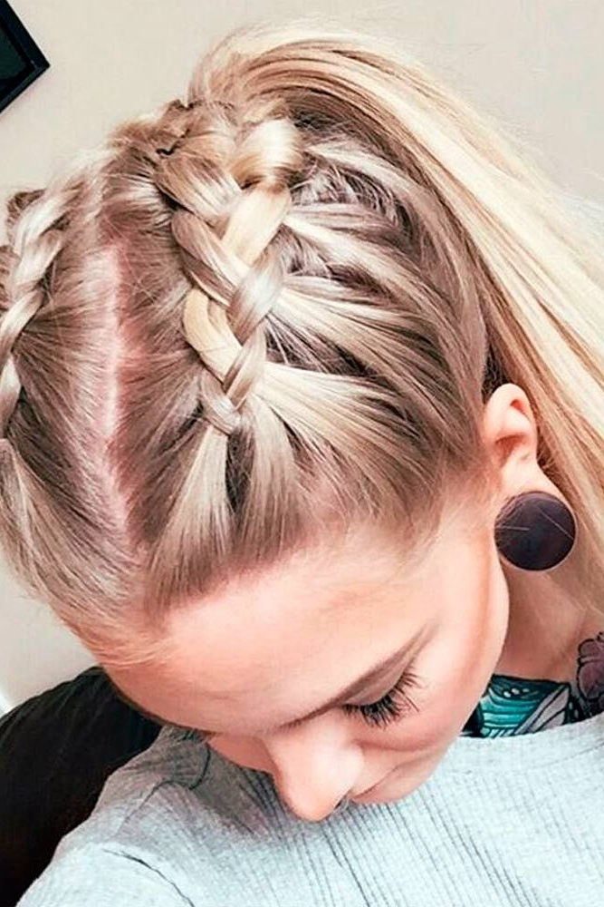 Wear These 36 Sporty Ponytail Hairstyles To The Gym | Hairstyles In Futuristic And Flirty Ponytail Hairstyles (View 25 of 25)