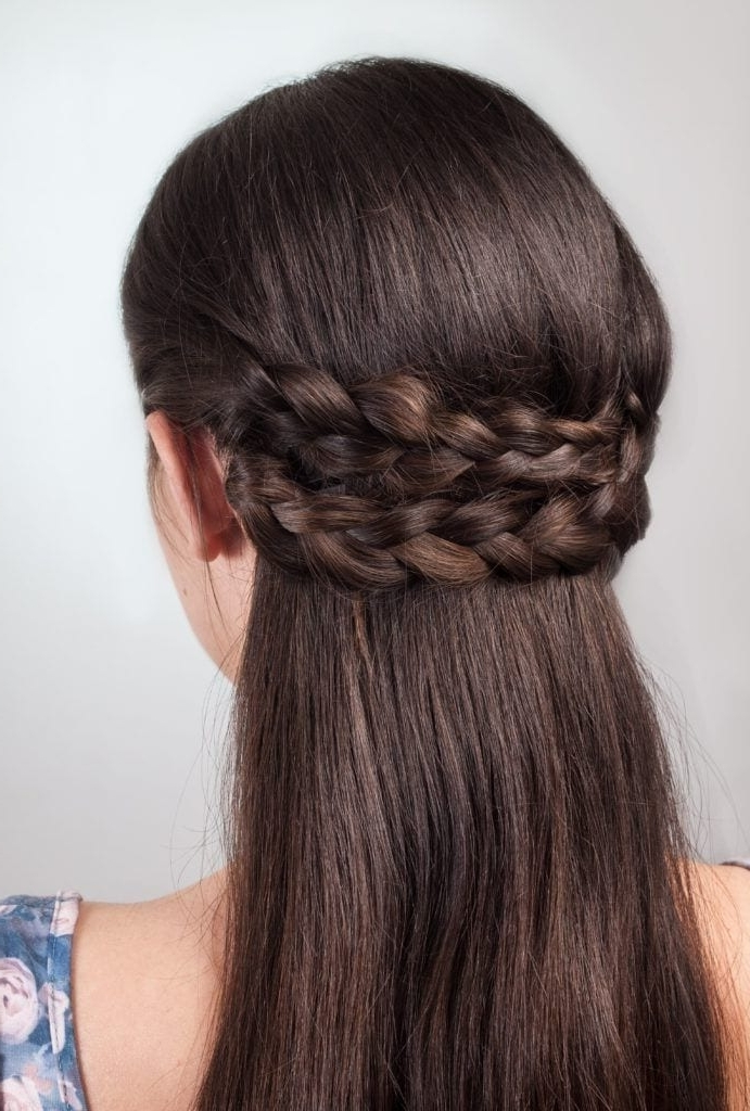 Wedding Braids And Wedding Hair Trends To Inspire Your Hairstyle In Reverse French Braids Ponytail Hairstyles With Chocolate Coils (View 18 of 25)