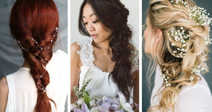 Wedding Hair Inspiration: 17 Beautifully Messy Bridal Braids Regarding A Layered Array Of Braids Hairstyles (View 12 of 25)