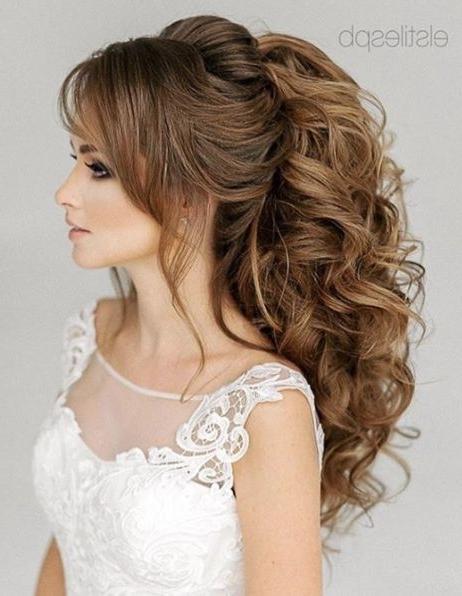 Wedding Hairstyles   Voluminous Ponytail, Ponytail And Curly Inside Voluminous Pony Hairstyles For Wavy Hair (View 14 of 25)