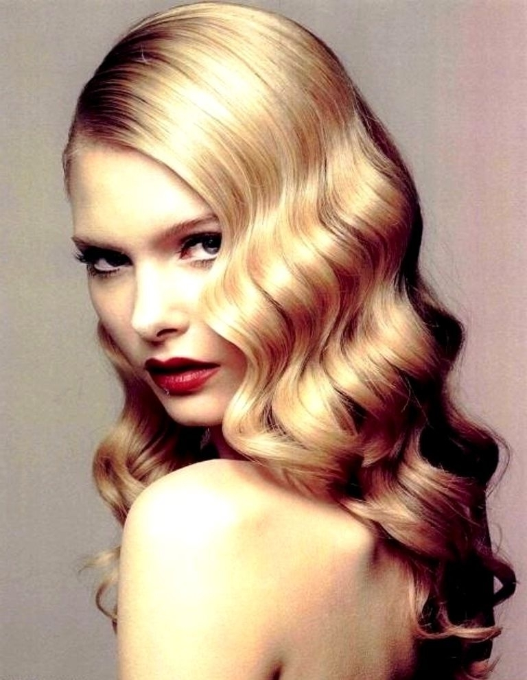 Wedding Inspiration | Hlywd Shoot | Pinterest | Finger Waves With Glamorous Mid Length Blonde Bombshell (View 3 of 25)