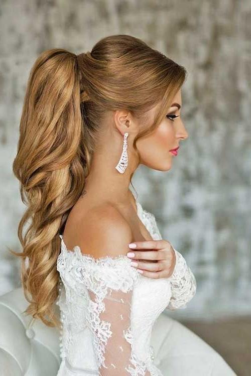Wedding Ponytail Hairstyle For Women | Photo | Pinterest | Wedding Within Embellished Drawstring Ponytail Hairstyles (View 15 of 25)