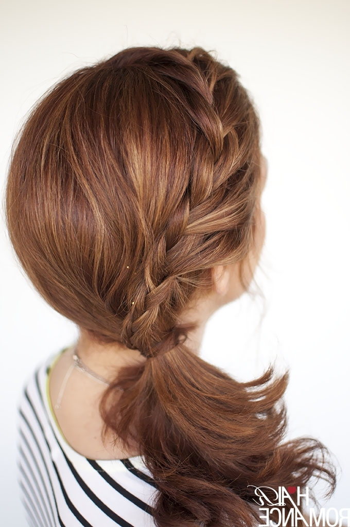 Featured Photo of Messy Pony Hairstyles With Lace Braid