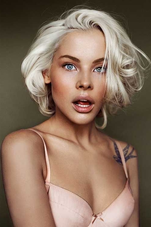 White Bleached Blonde For Wavy Hair   Hair And Make Up   Pinterest In White Blonde Curls Hairstyles (View 8 of 25)