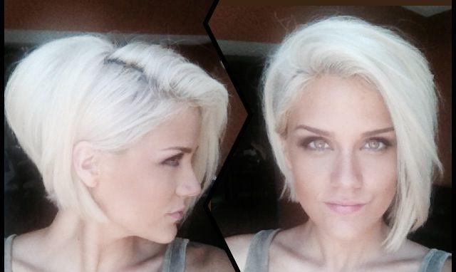 White Hair • Platinum Blonde • Asymmetrical Bob • Girl • Hairstyle With Regard To Platinum Asymmetrical Blonde Hairstyles (View 2 of 25)