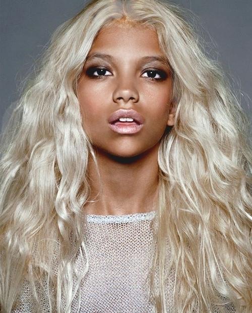 White Hair Ideas For Dark Skin: 5 Beautiful Blends Inside Dark Blonde Into White Hairstyles (View 20 of 25)