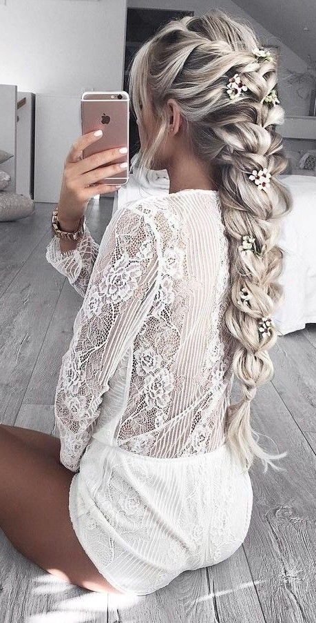 White Lace Romper Source | Peinados | Pinterest | White Lace Romper In White Wedding Blonde Hairstyles (View 8 of 25)