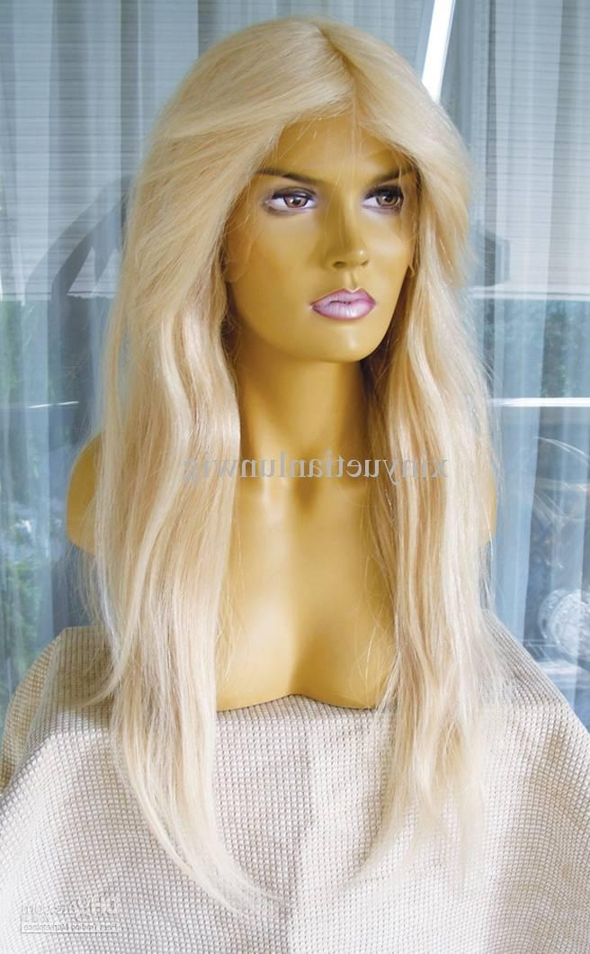 Wholesale 12'' 20'' #60 Blonde Color 100% Brazilian Remy Human Hair Inside Sexy White Blond Weave Ponytail Hairstyles (View 19 of 25)