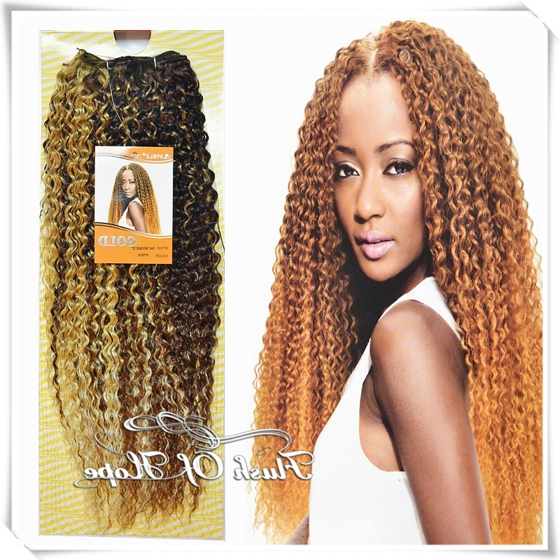 Wholesale 22? 8 Packs/lot Noble Gold Bohemian Chic Beyonce Brazilian With Regard To Curly Blonde Ponytail Hairstyles With Weave (View 23 of 25)