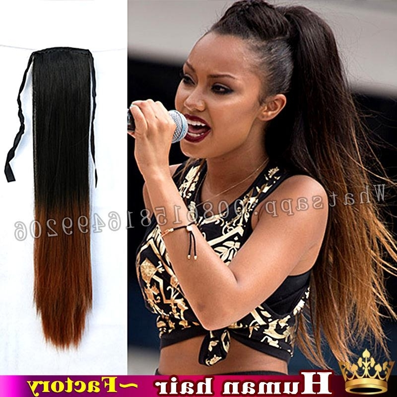 Wholesale Straight Pony Tail Extension High Quality Brazilian For Pony Hairstyles For Natural Hair (View 24 of 25)