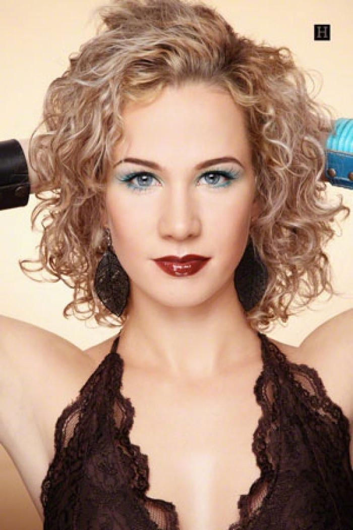 With Medium Length Layered Spiral Curly Hairstyles – Very Similar To For Medium Blonde Bob With Spiral Curls (View 2 of 25)