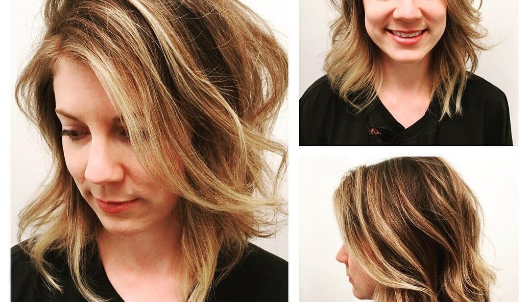 Women's Angled Dark Blonde Lob With Undone Soft Waves And Highlights Inside Gently Angled Waves Blonde Hairstyles (View 16 of 25)