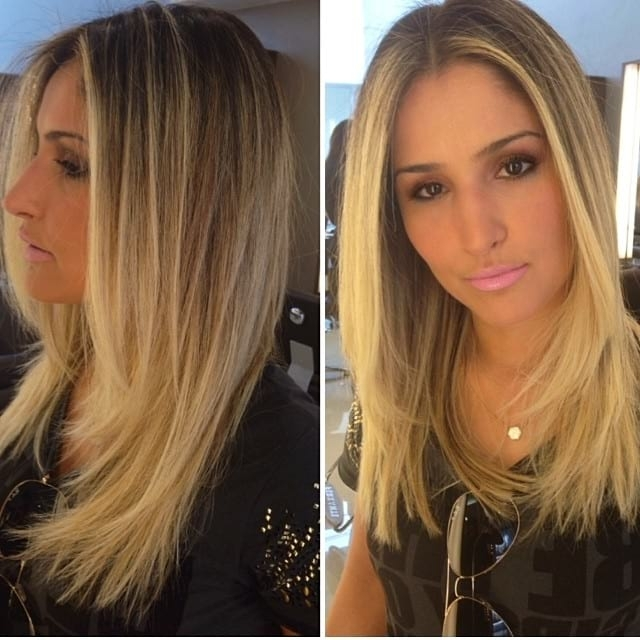 Women's Longhair With Blonde Balayage And Textured Ends With Front Regarding Balayage Blonde Hairstyles With Layered Ends (View 13 of 25)