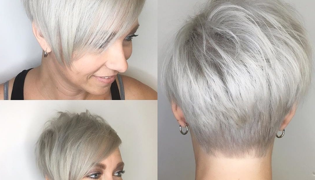 Women's Polished Platinum Asymmetrical Textured Pixie With Side Regarding Platinum Asymmetrical Blonde Hairstyles (View 23 of 25)