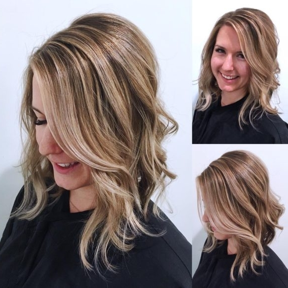 Women's Undone Textured Lob With Long Side Swept Bangs And Pale Pertaining To Blonde Lob Hairstyles With Sweeping Bangs (View 21 of 25)