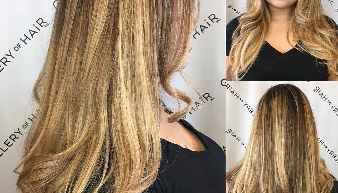 Women's V Cut Layers Soft Waves And Bronde Color Melt Balayage Long With Bronde Beach Waves Blonde Hairstyles (View 25 of 25)