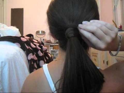 Wrap Around Ponytail Hair Tutorial – Youtube Regarding Wrapped Up Ponytail Hairstyles (View 19 of 25)