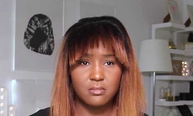 Youtuber's Fringe Cutting Hack Goes Wrong | Daily Mail Online With Regard To Minaj Pony Hairstyles With Arched Bangs (View 24 of 25)