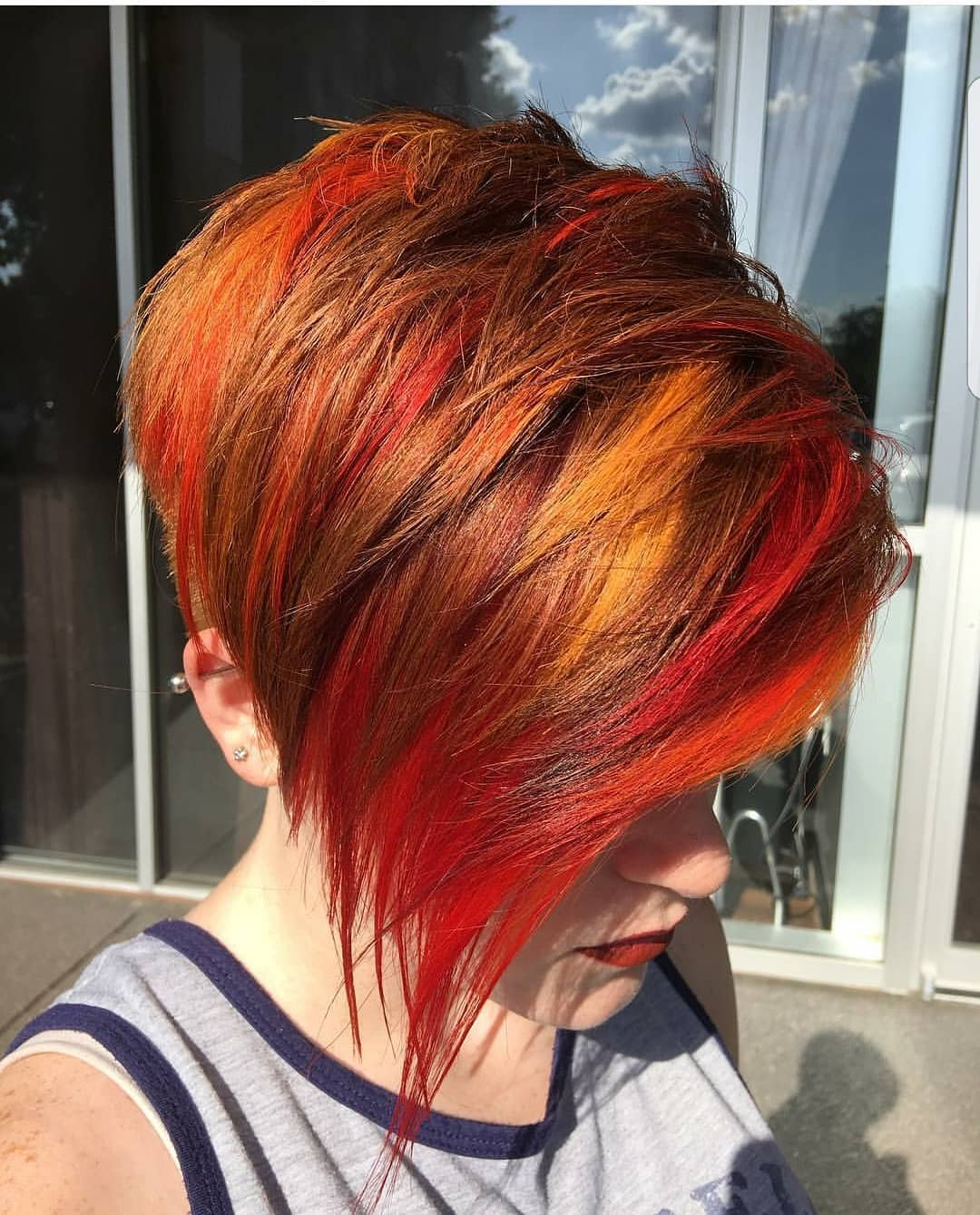 10 Beautiful Asymmetrical Short Pixie Haircuts & Hairstyles, Women In Bright Red Short Hairstyles (View 8 of 25)