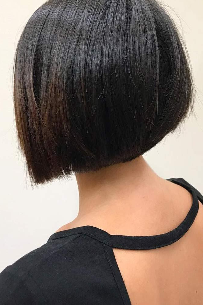 10 Beautiful Short Hairstyles For Thick Hair | Thicker Hair, Short Throughout Angled Bob Hairstyles For Thick Tresses (View 7 of 25)