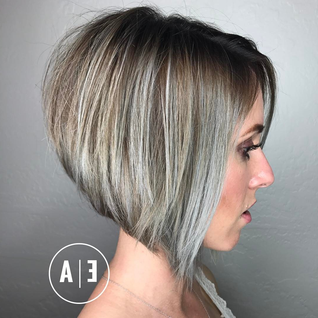 10 Best Short Hairstyles For Thick Hair In Fab New Color Combos With Gray Short Hairstyles (View 7 of 25)