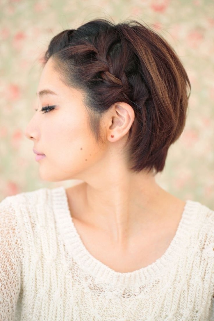 10 Braided Hairstyles For Short Hair   Braids   Pinterest   Short In Cute Hairstyles For Really Short Hair (View 13 of 25)