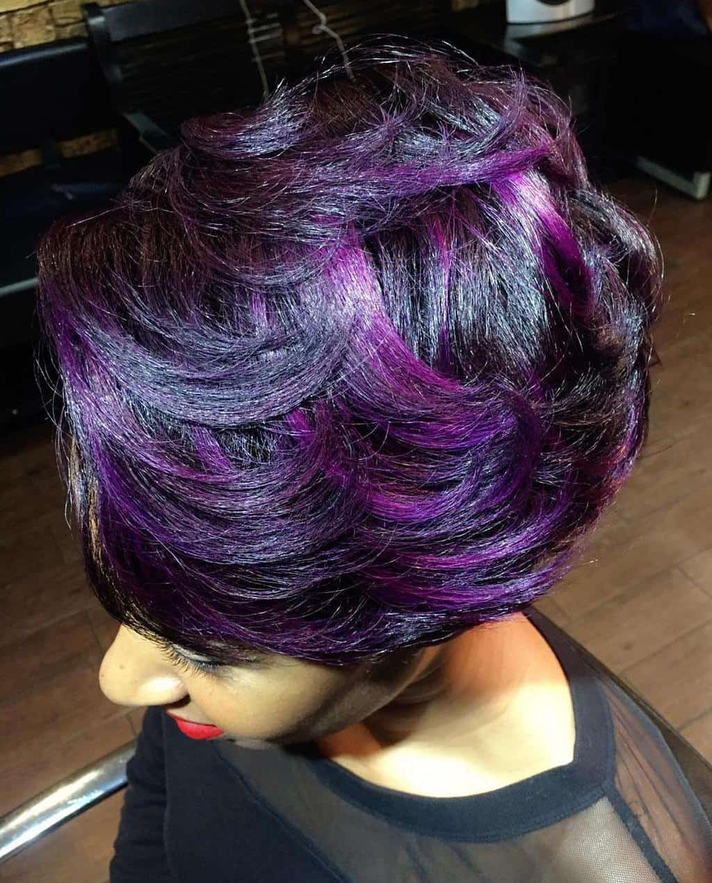 10 Brooding But Cool Black And Purple Hair Ideas Intended For Purple And Black Short Hairstyles (View 9 of 25)