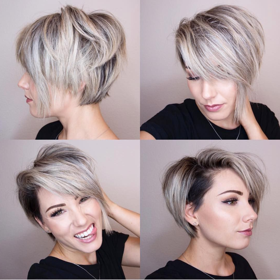 10 Chic Shaved Haircuts For Short Hair – Women Short Hairstyles 2018 Pertaining To Edgy Asymmetrical Short Haircuts (View 6 of 25)