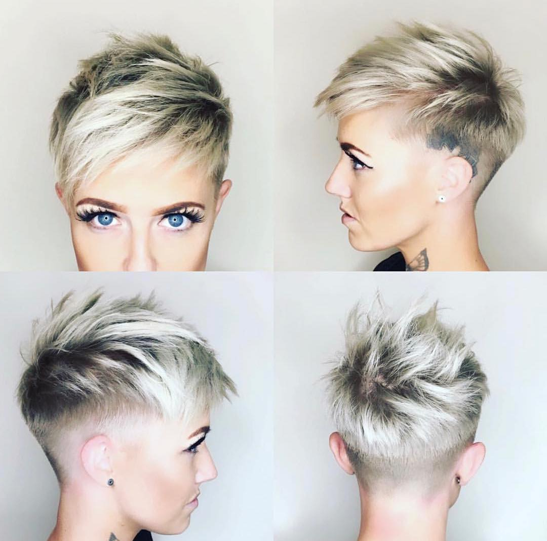 10 Chic Shaved Haircuts For Short Hair – Women Short Hairstyles 2018 Pertaining To Short Hairstyles With Both Sides Shaved (View 9 of 25)