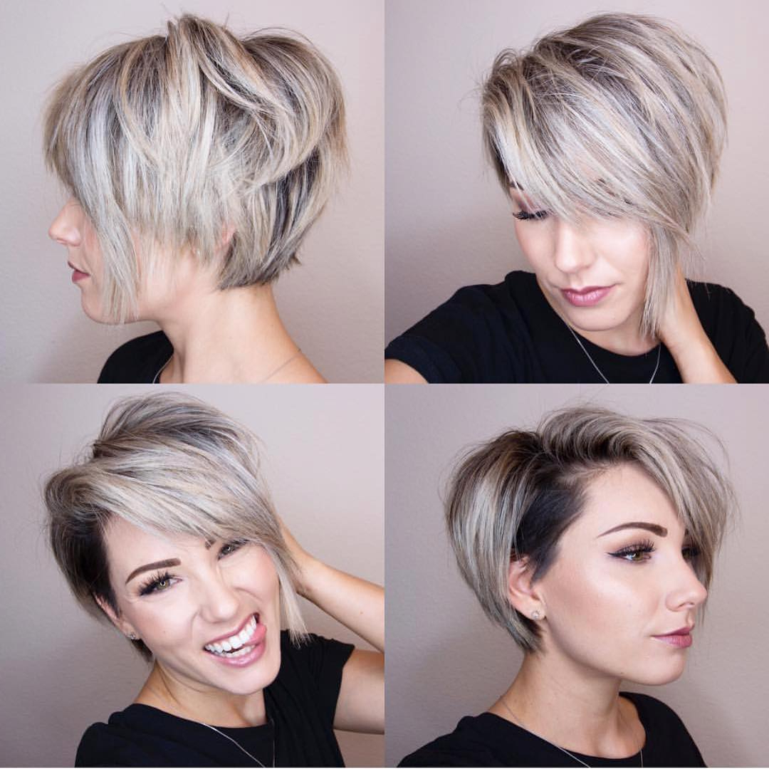 10 Chic Shaved Haircuts For Short Hair – Women Short Hairstyles 2018 Throughout Short Haircuts Bobs Crops (View 5 of 26)
