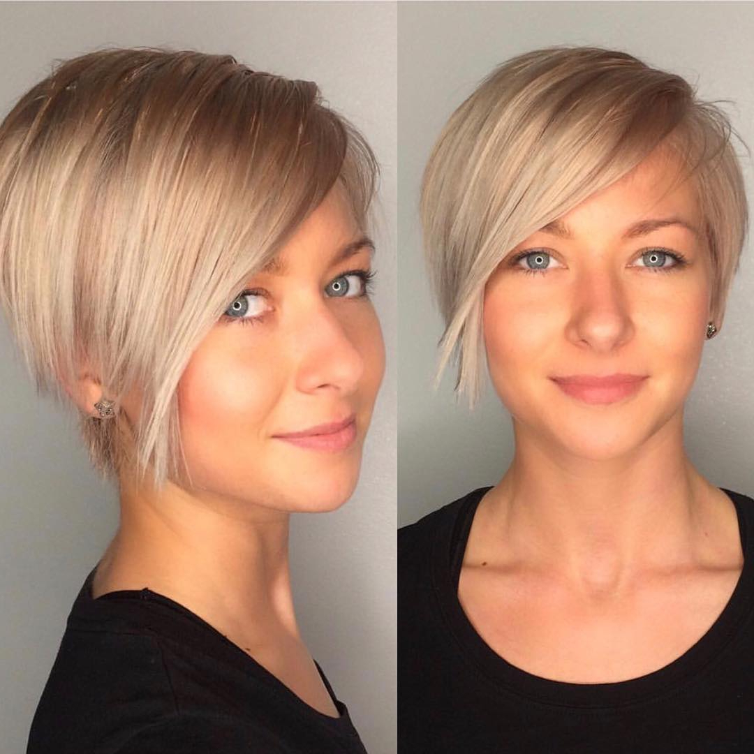 10 Chic Shaved Haircuts For Short Hair – Women Short Hairstyles 2018 With Regard To Edgy Asymmetrical Short Haircuts (View 2 of 25)