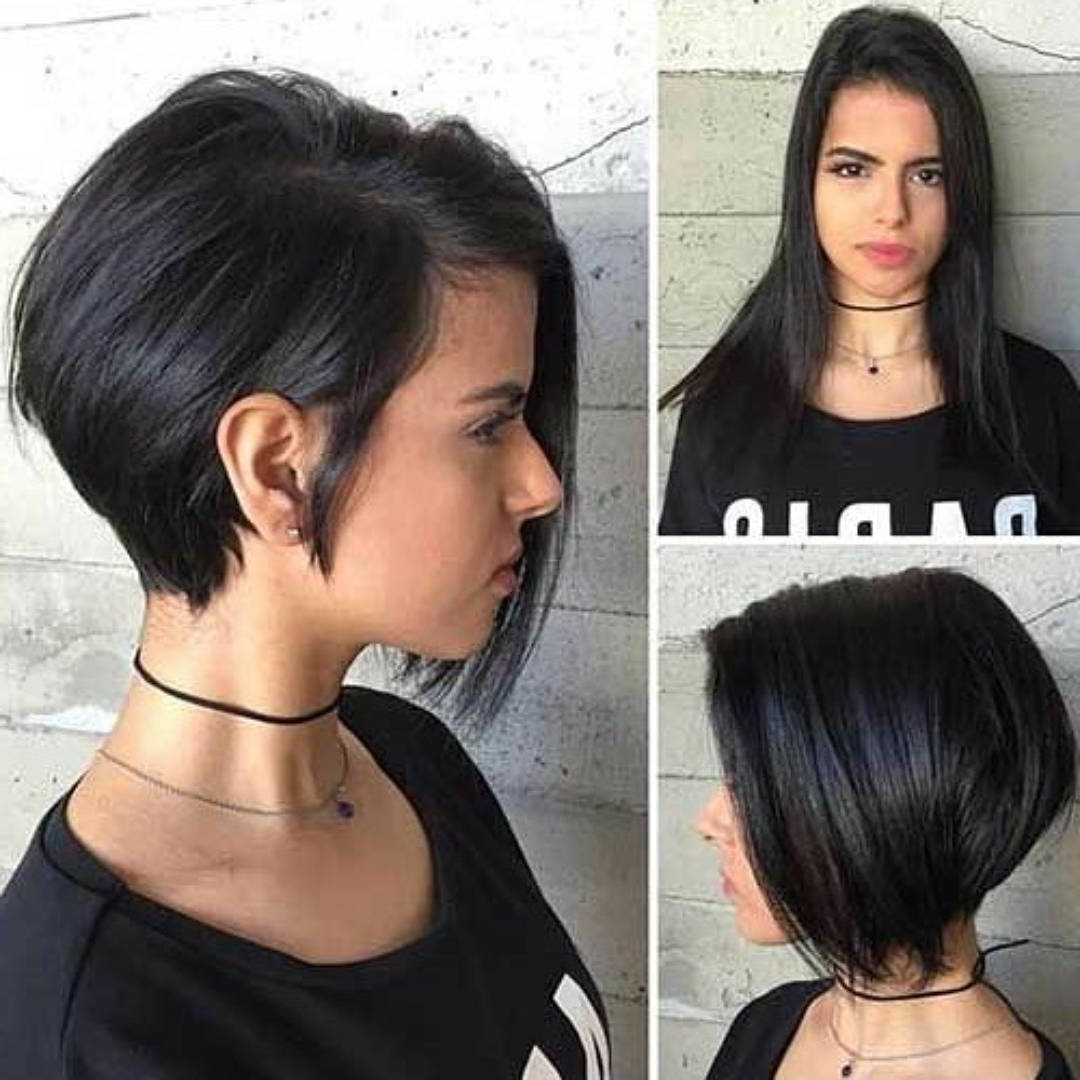 10 Chic Short Bob Haircuts That Balance Your Face Shape! – Short Throughout Short Black Bob Haircuts (View 7 of 25)