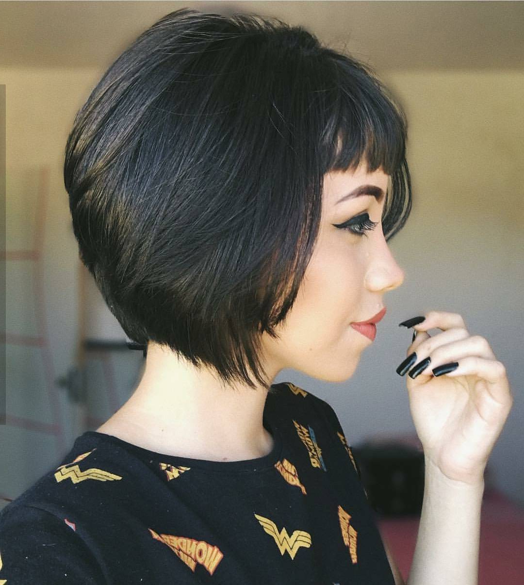 10 Chic Short Bob Haircuts That Balance Your Face Shape! – Short Within Short Black Bob Haircuts (View 15 of 25)