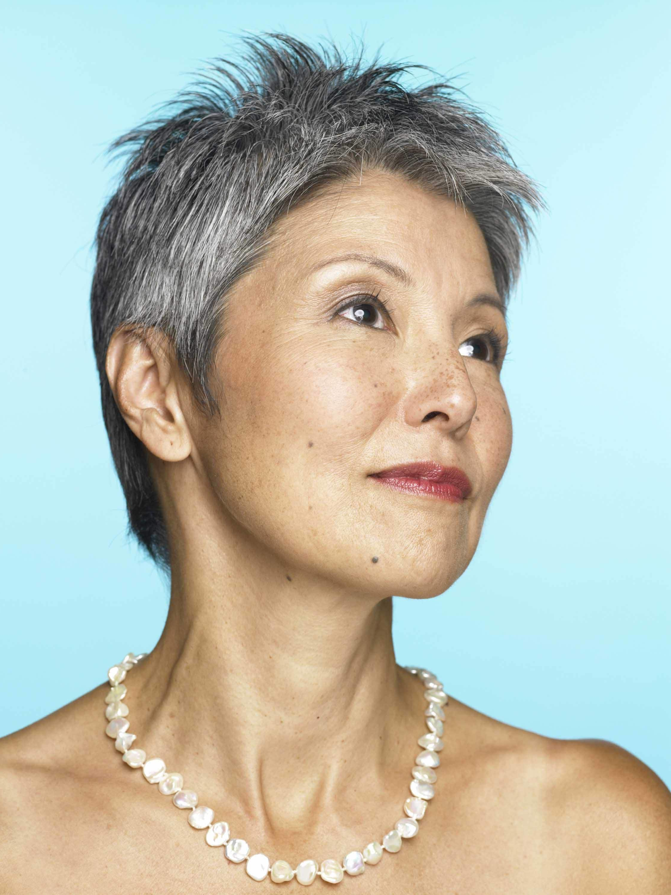 10 Chic Short Gray Hair Looks For Older Women For Short Hairstyles For Salt And Pepper Hair (View 14 of 25)