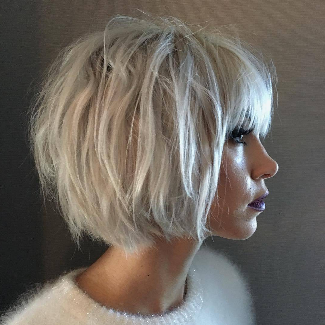 10 Choppy Haircuts For Short Hair In Crazy Colors – Women Hairstyle 2018 For Choppy Short Haircuts For Fine Hair (View 1 of 25)