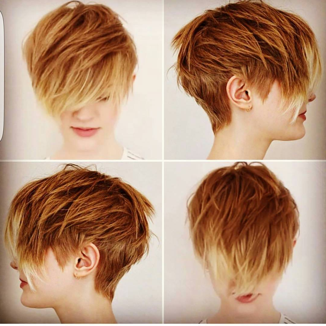 10 Choppy Haircuts For Short Hair In Crazy Colors – Women Hairstyle 2018 For Choppy Short Haircuts (View 11 of 25)