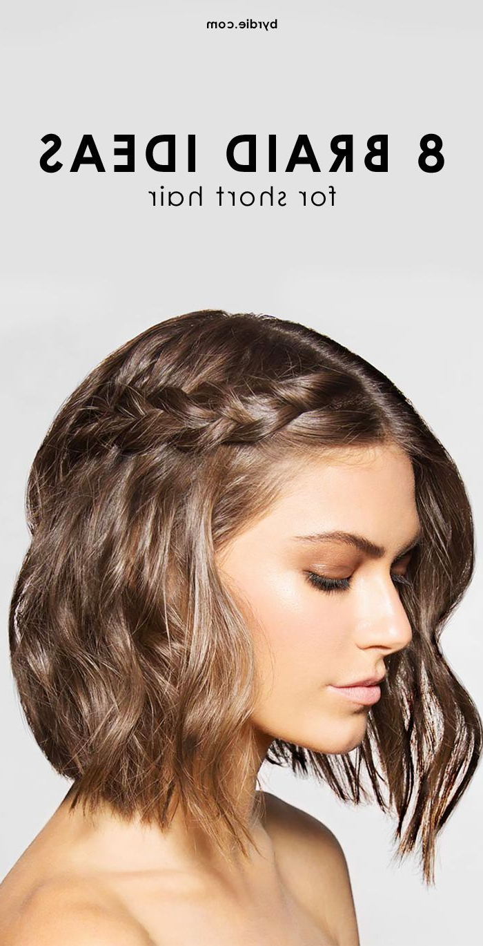 10 Cool And Easy To Pull Off Braids For Short Hair | Hair Brained Regarding Simple Short Hairstyles With Scrunched Curls (View 5 of 25)