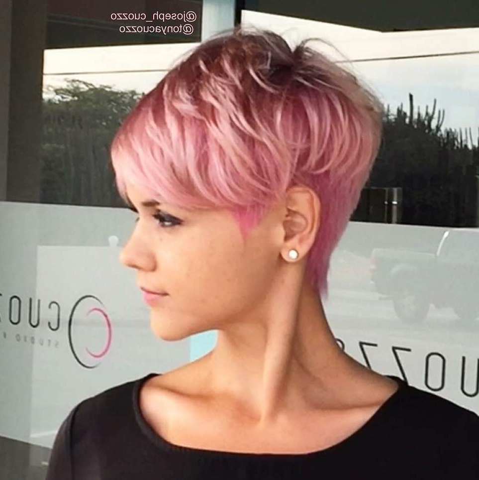 10 Daring Pixie Haircuts For Women, Short Hairstyle And Color 2018 Throughout Pink Short Haircuts (View 21 of 25)