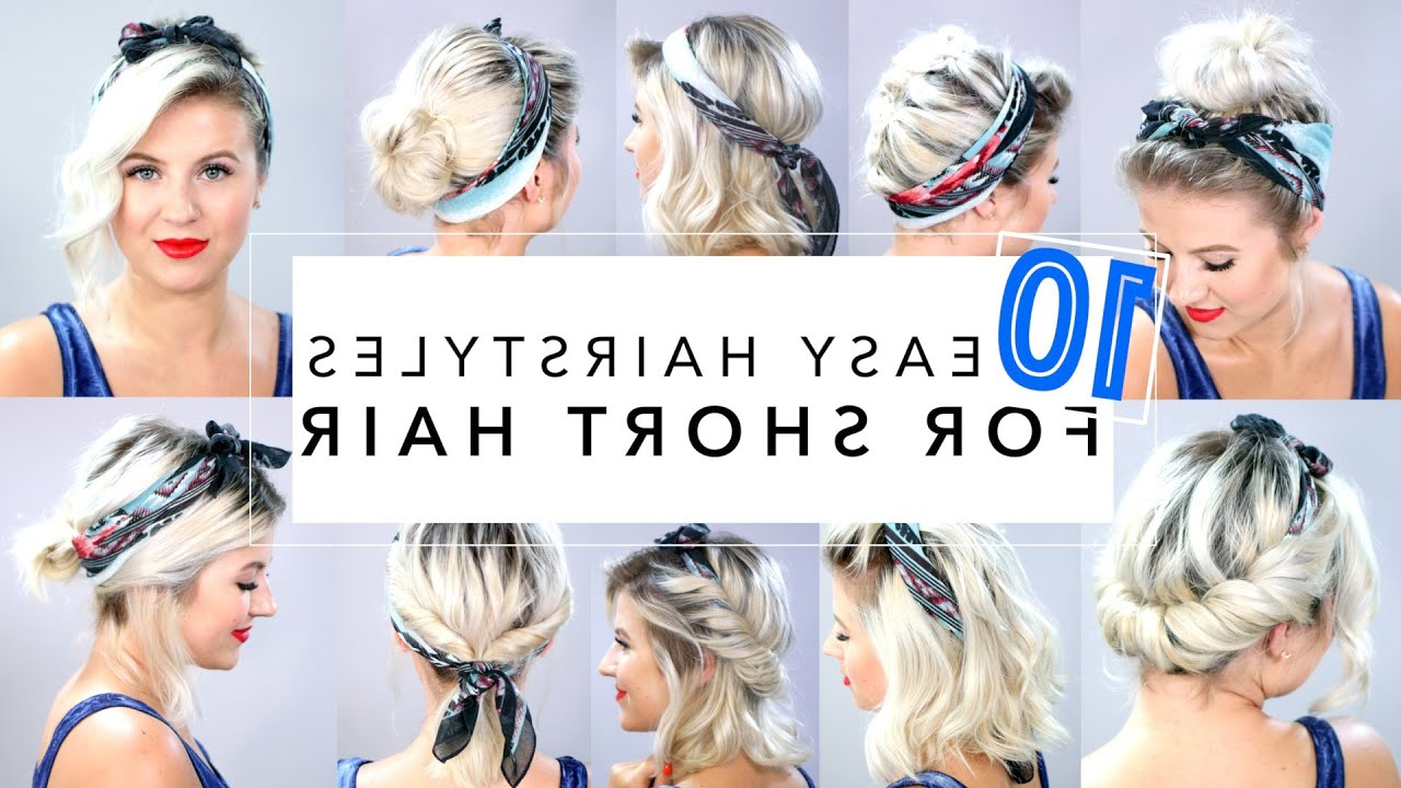 10 Easy Hairstyles For Short Hair With Headband   Milabu – Youtube With Short Haircuts With Headbands (View 2 of 25)