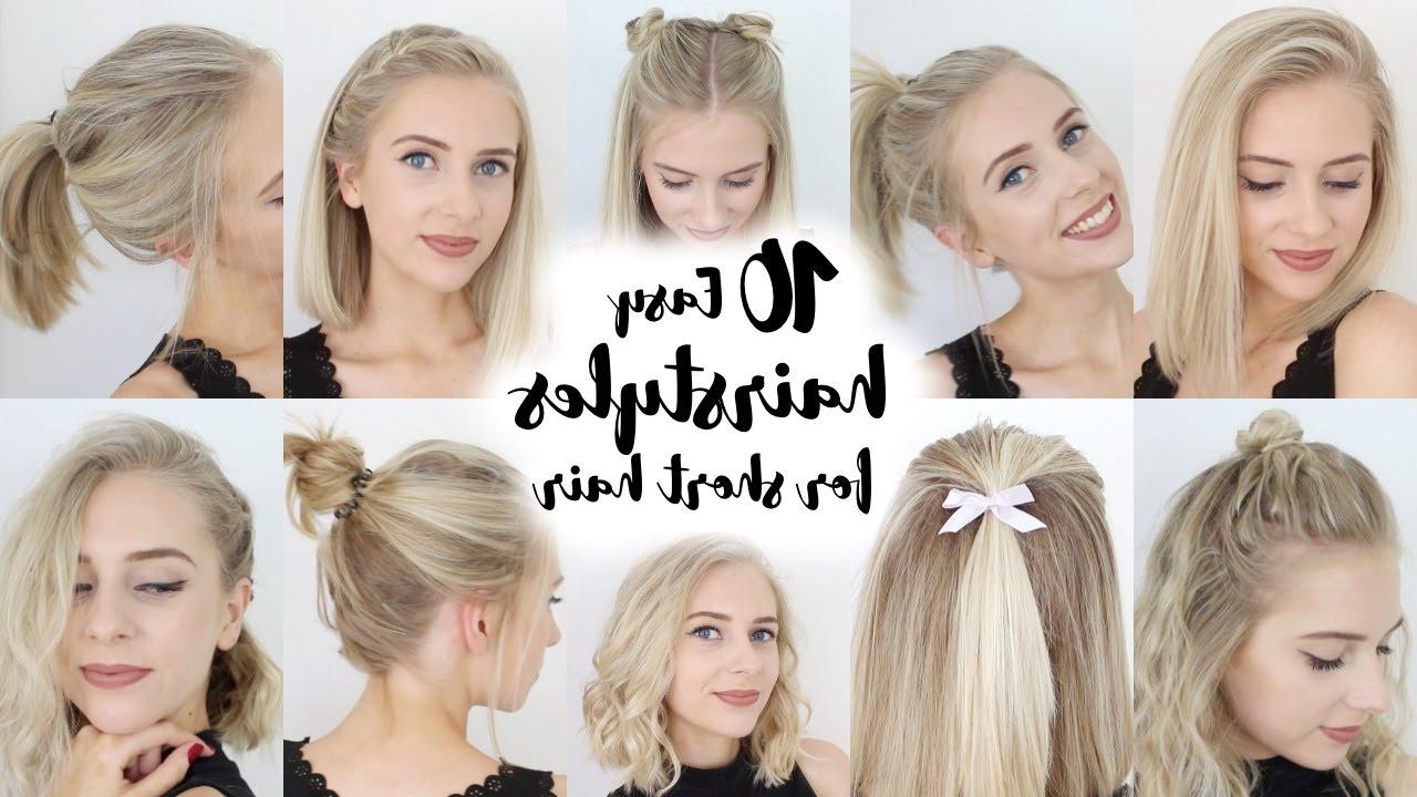10 Easy Hairstyles For Short Hair – Youtube Inside Cute Hairstyles For Shorter Hair (View 2 of 25)