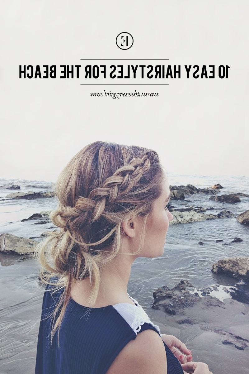10 Easy Hairstyles For The Beach – The Everygirl Throughout Beach Hairstyles For Short Hair (View 6 of 25)