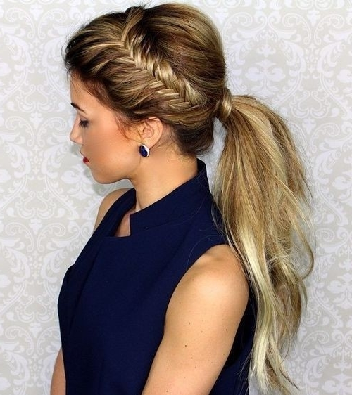 10 Easy Ponytail Hairstyles: Long Hair Style Ideas 2018 Within Fabulous Fishtail Side Pony Hairstyles (View 1 of 25)