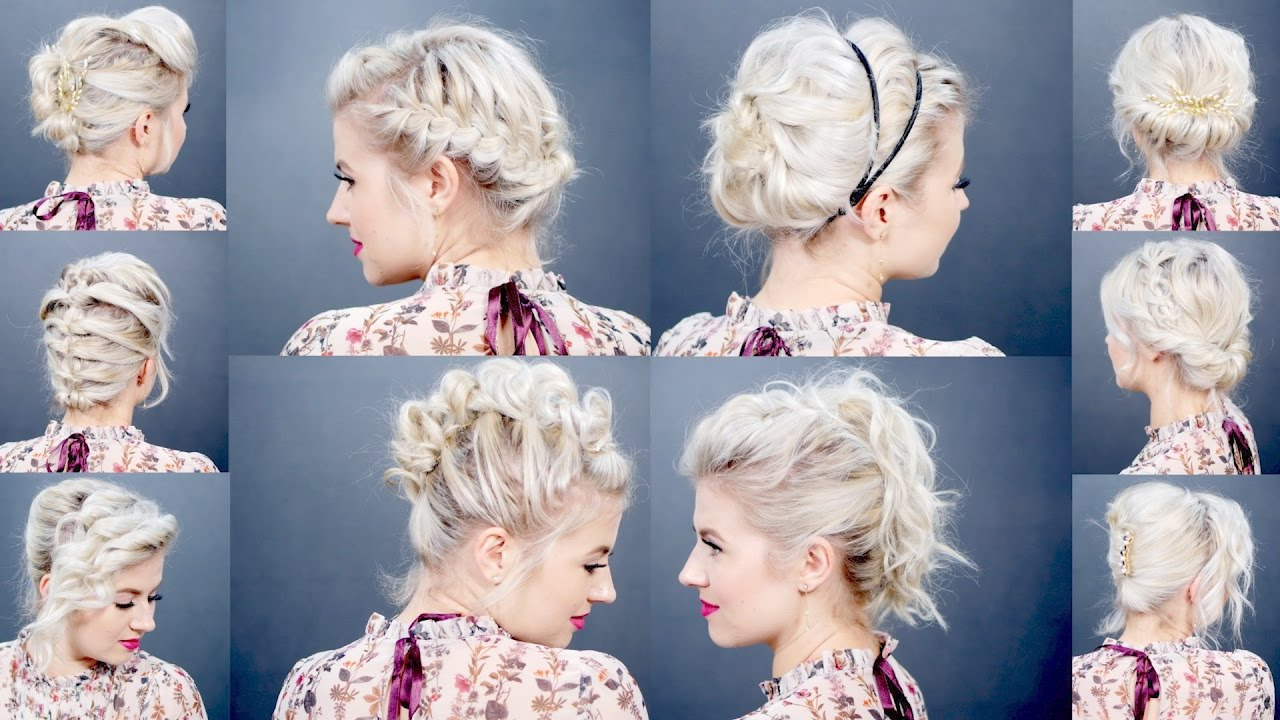10 Easy Updo Tutorials For Short Hair | Milabu – Youtube Inside Cute Wedding Hairstyles For Short Hair (View 16 of 25)