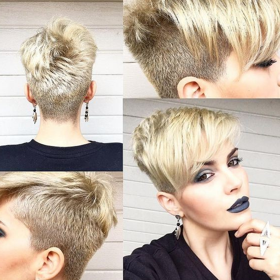 10 Easy, Women Short Hairstyles Inspiration 2018: Stylish Pixie Hair With Sweeping Pixie Hairstyles With Undercut (View 7 of 25)